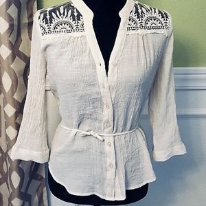 Mine Ivory Top with Lace Detail